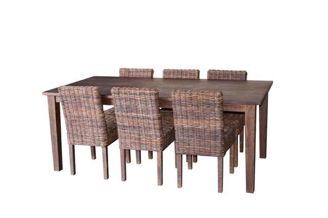 Eetkamer Tafel Met Stoelen : tafel met 6 stoelen in rotan NIEUW ...